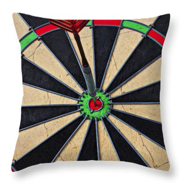 On Target Bullseye Throw Pillow by Garry Gay