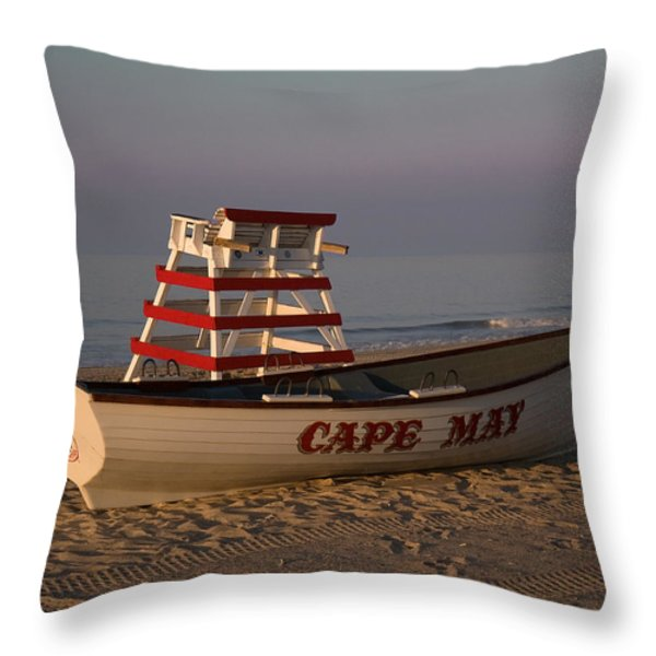 On The Beach Throw Pillow by Robert Pilkington