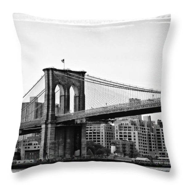 On the Brooklyn Side Throw Pillow by Bill Cannon