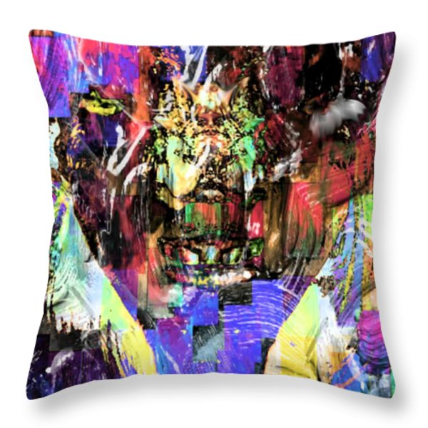 On The Inside Throw Pillow by Tisha McGee