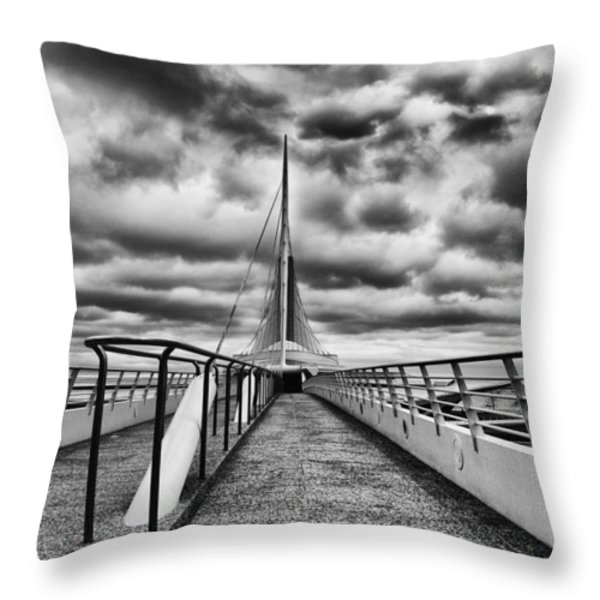 On The Lake Throw Pillow by Jack Zulli
