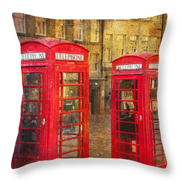 On The Streets Of Edinburgh  Throw Pillow by Svetlana Sewell