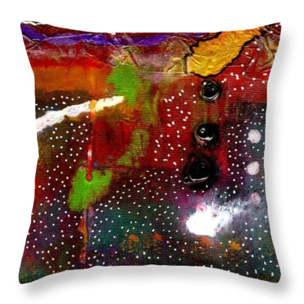 Once Upon A Snowy Night Throw Pillow by Angela L Walker