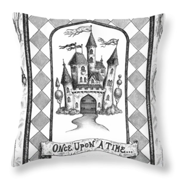 Once Upon A Time Throw Pillow by Adam Zebediah Joseph