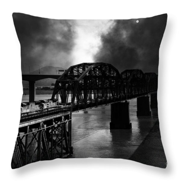 Once Upon A Time In The Story Book Town Of Benicia California - 5d18849 - Black And White Throw Pillow by Wingsdomain Art and Photography