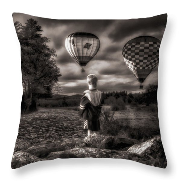 One Boys Dream Throw Pillow by Bob Orsillo