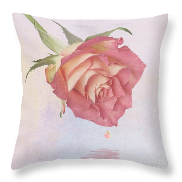 One Drop Of Love Throw Pillow by John Edwards