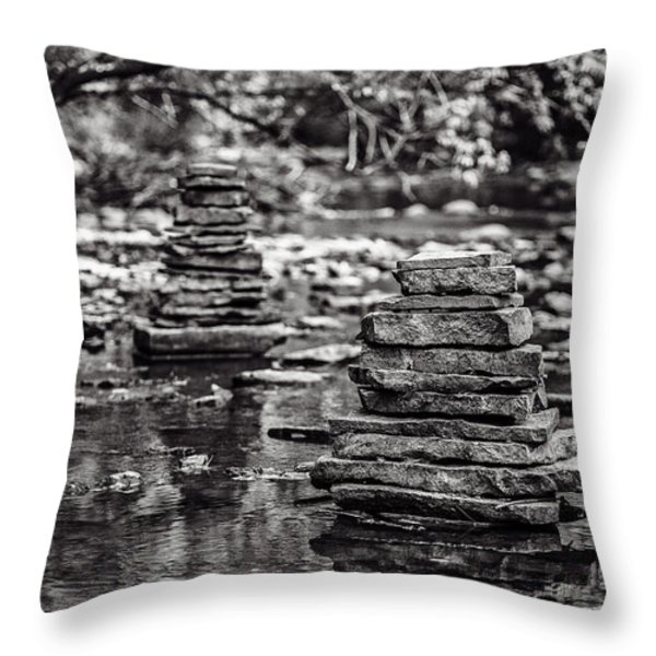 One On Top Of Another Throw Pillow by CJ Schmit