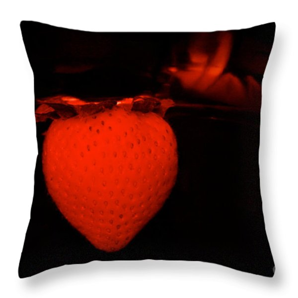 One Scary Berry Throw Pillow by Susan Herber