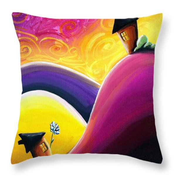 One Song Throw Pillow by Cindy Thornton