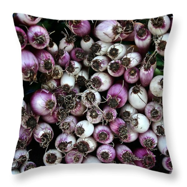Onion Power Throw Pillow by Susan Herber