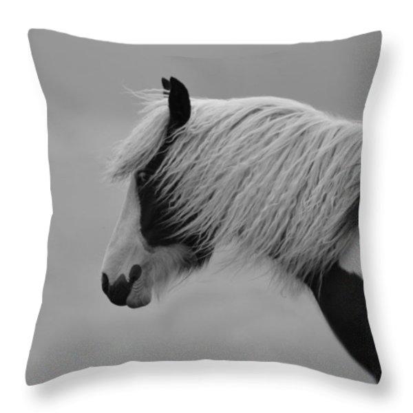 Only The Wind Spoke Of Softness Throw Pillow by Danny Van den Groenendael