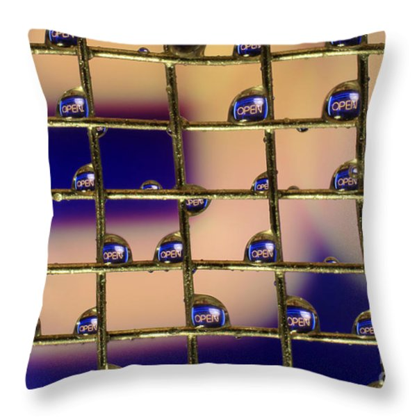 Open Throw Pillow by Darren Fisher