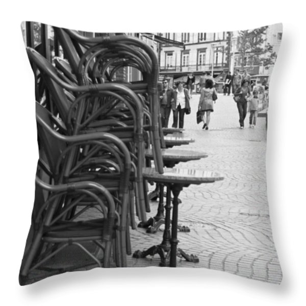Open for Lunch at 12 Throw Pillow by Nomad Art And  Design