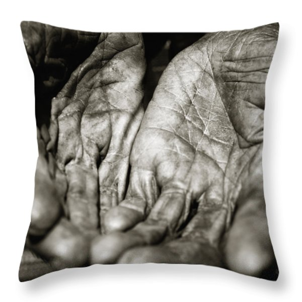 Open Hands Throw Pillow by Skip Nall