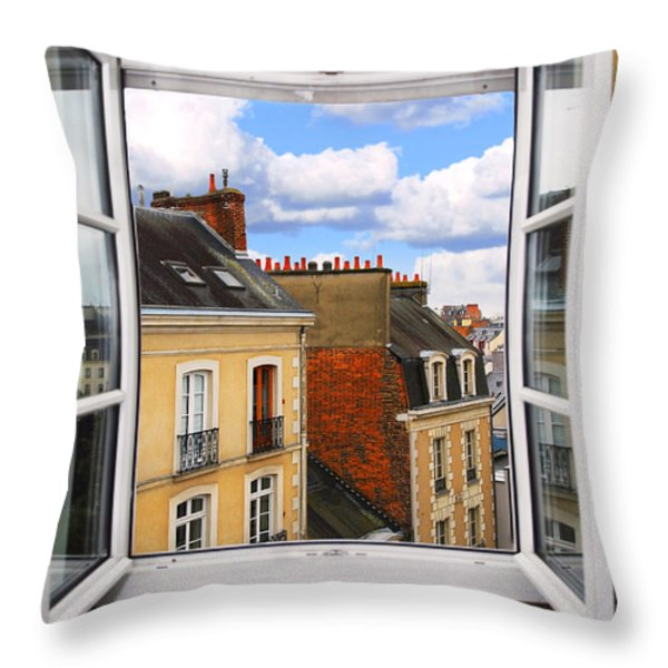 Open window Throw Pillow by Elena Elisseeva