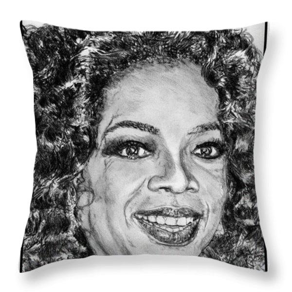 Oprah Winfrey in 2007 Throw Pillow by J McCombie
