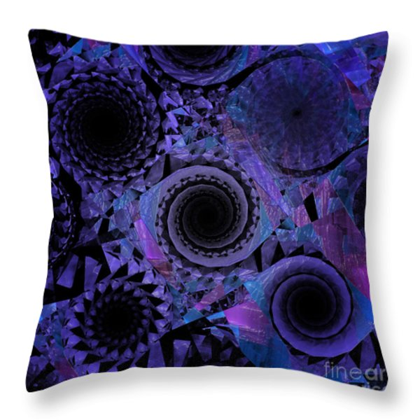Optical Illusion Throw Pillow by Andee Design