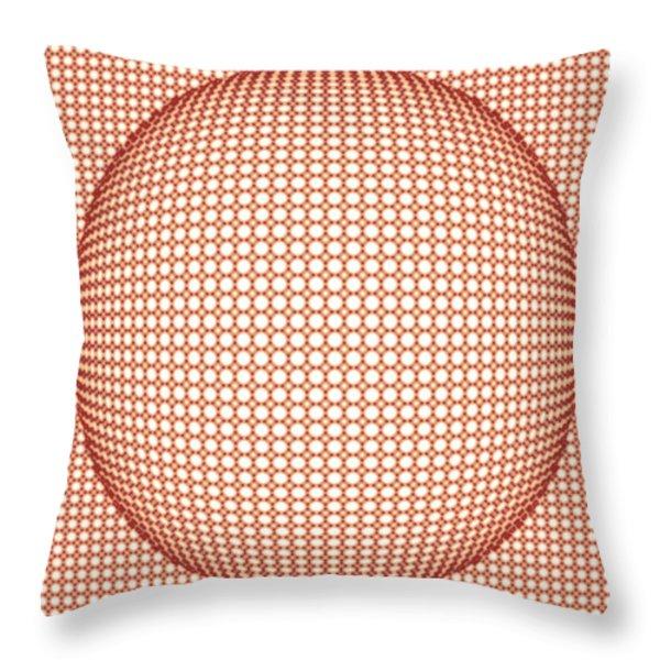 Optical Illusion Orange Ball Throw Pillow by Sumit Mehndiratta