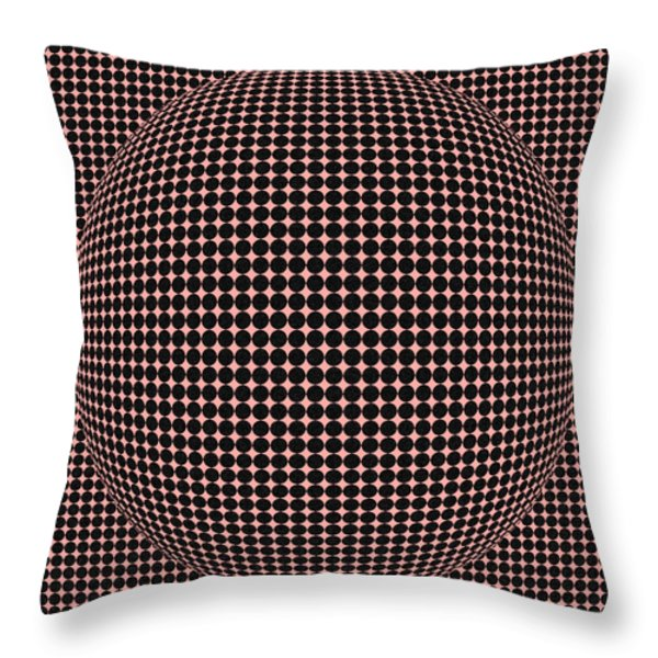 Optical Illusion Red Ball Throw Pillow by Sumit Mehndiratta