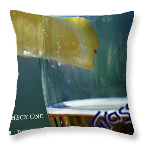 Optimist Quiz Throw Pillow by Lisa Knechtel