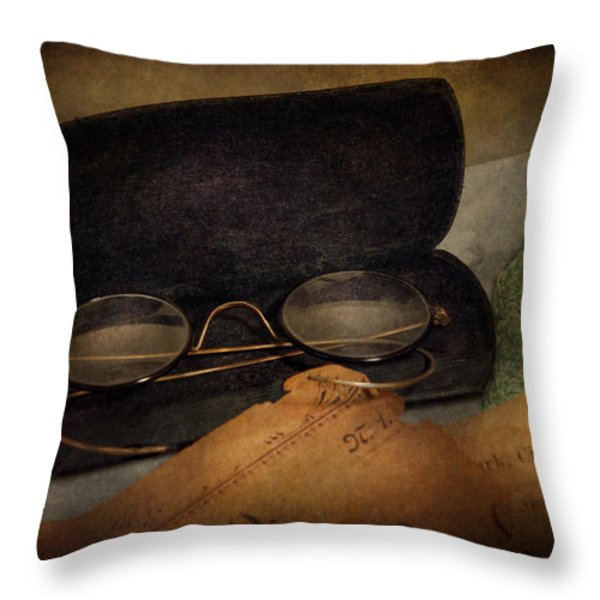 Optometrist - Glasses for Reading  Throw Pillow by Mike Savad