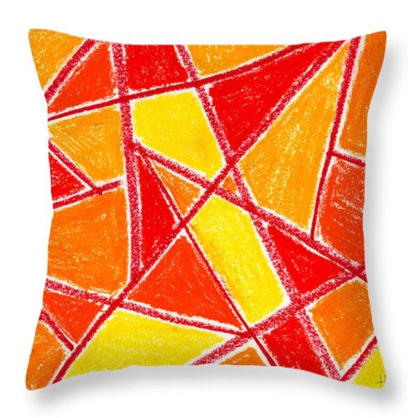 Orange Abstract Throw Pillow by Hakon Soreide