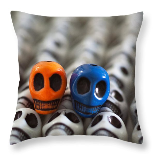 Orange And Blue Throw Pillow by Mike Herdering