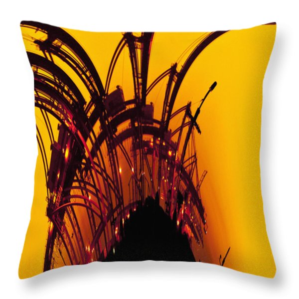 Orange and Yellow Throw Pillow by Skip Nall