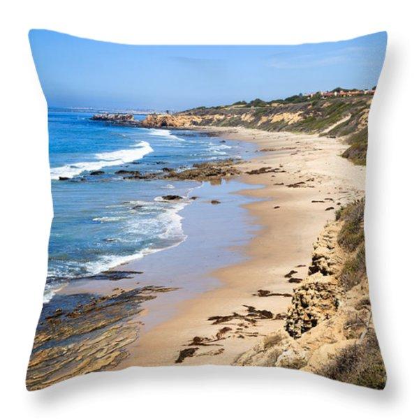 Orange County California Throw Pillow by Paul Velgos