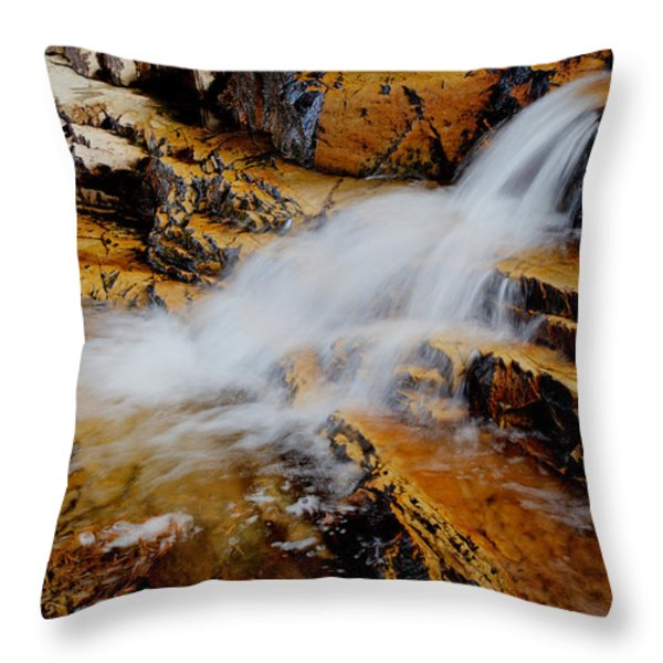 Orange Falls Throw Pillow by Chad Dutson