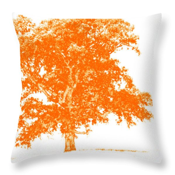 Orange Oak Throw Pillow by Alan Look