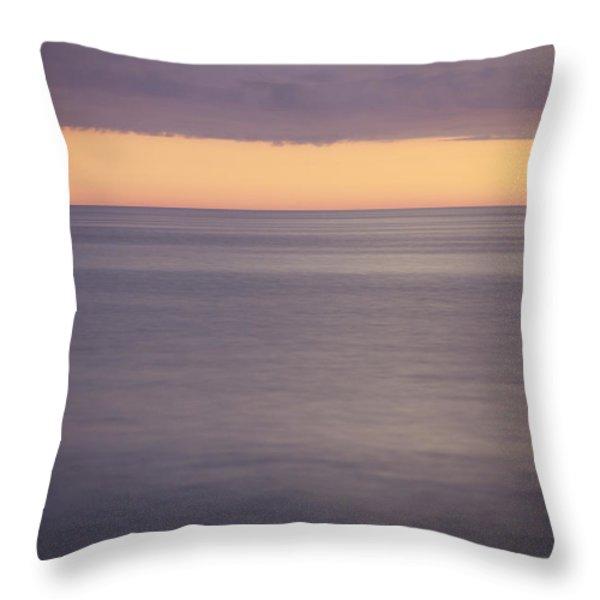 Orange Sky Throw Pillow by Skip Nall