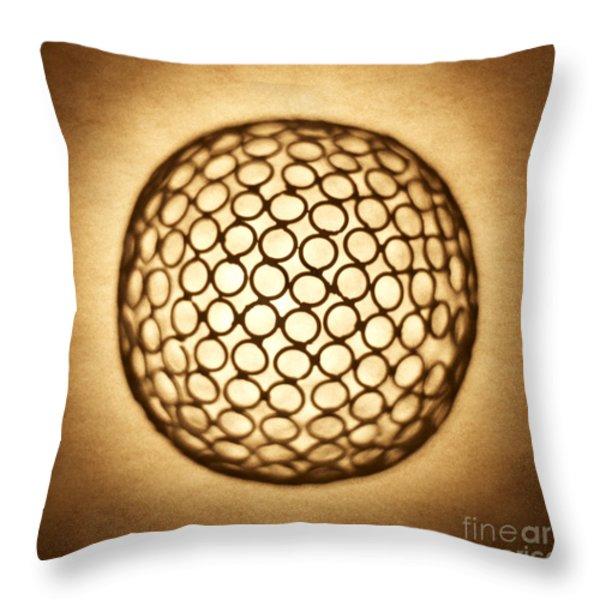 Orb Web Throw Pillow by Tony Cordoza
