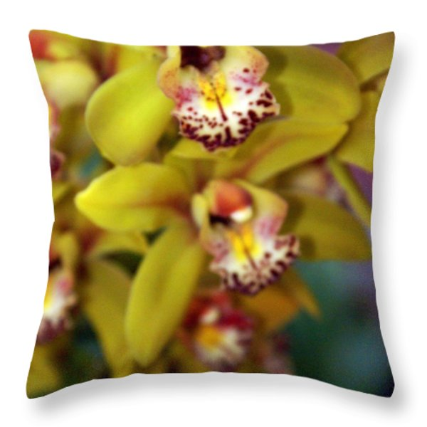 Orchid 11 Throw Pillow by Marty Koch