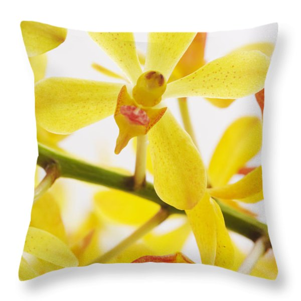 orchid Throw Pillow by ATIKETTA SANGASAENG