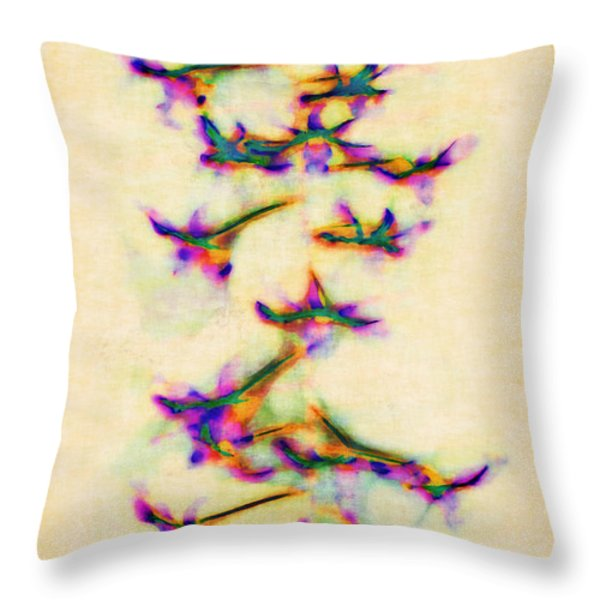 Orchids in Flight Throw Pillow by Judi Bagwell