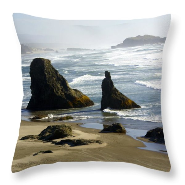 Oregon Coast 19 Throw Pillow by Marty Koch