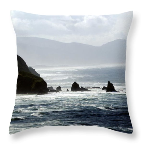 Oregon Coast 5 Throw Pillow by Marty Koch