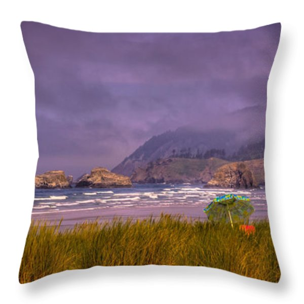 Oregon Seascape Throw Pillow by David Patterson