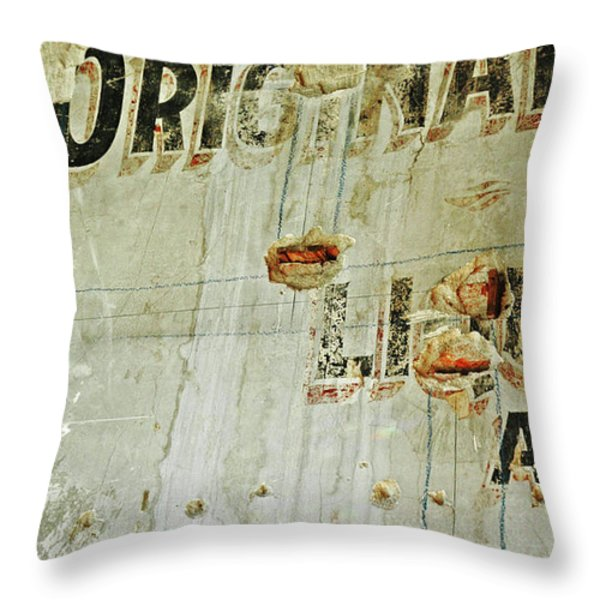 Original on a Wall Throw Pillow by Anahi DeCanio