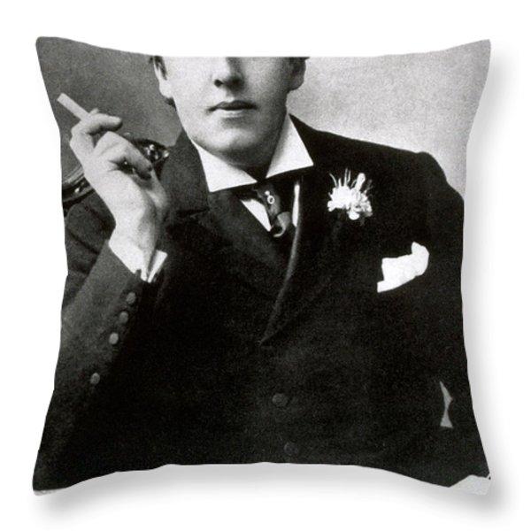 Oscar Wilde, Irish Author Throw Pillow by Photo Researchers
