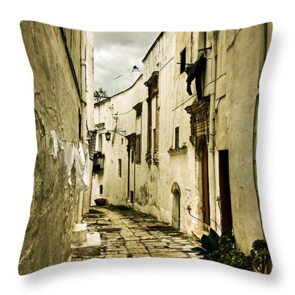 Ostuni - Apulia Throw Pillow by Joana Kruse