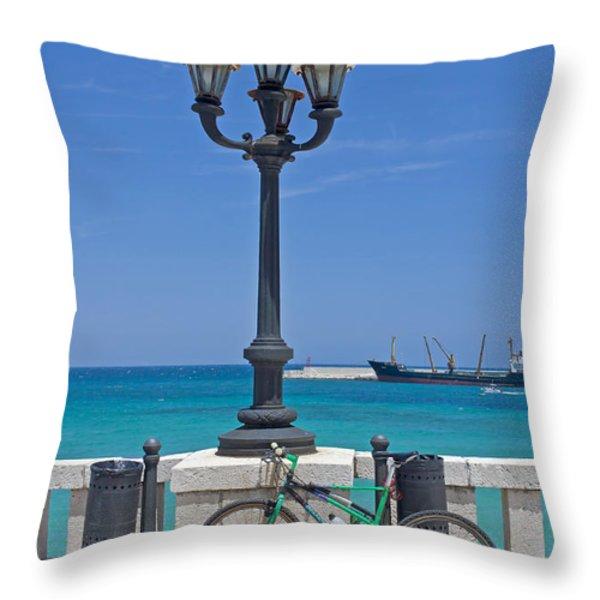 Otranto - Apulia Throw Pillow by Joana Kruse