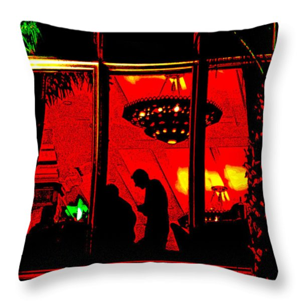 Our Specials Tonight Are... Throw Pillow by Chuck Staley
