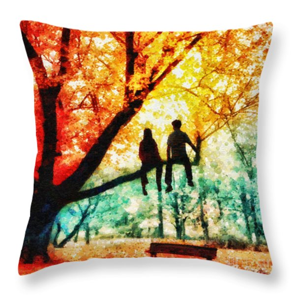Our Spot Throw Pillow by Mo T