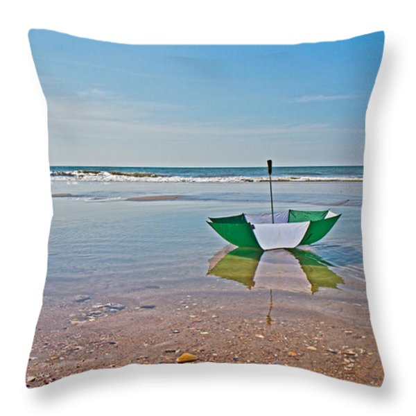 Out for a Stroll Throw Pillow by Betsy A  Cutler