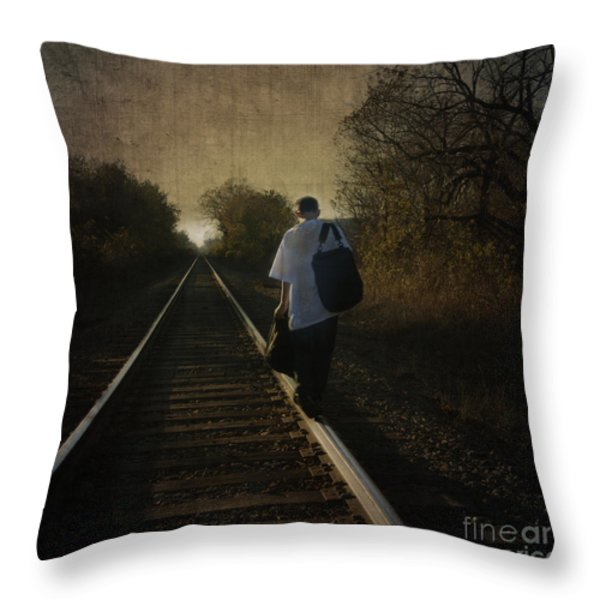 Out Of The Darkness Throw Pillow by Betty LaRue