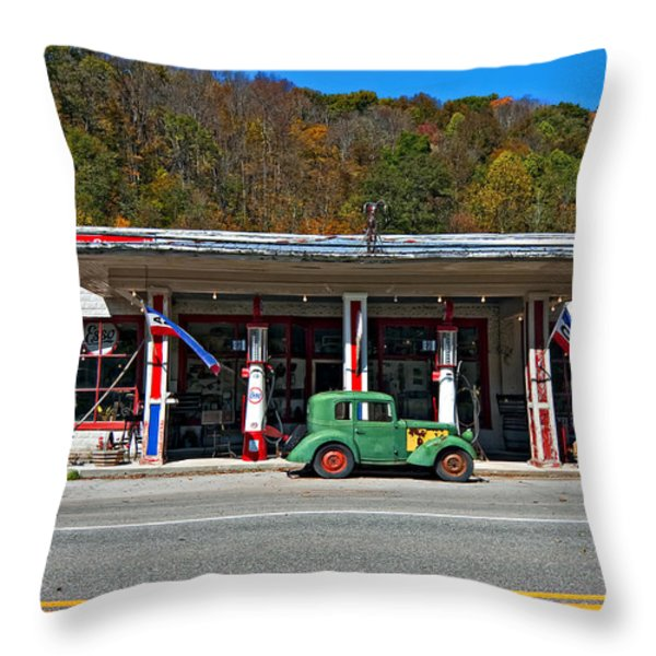 Out Of The Past Throw Pillow by Steve Harrington
