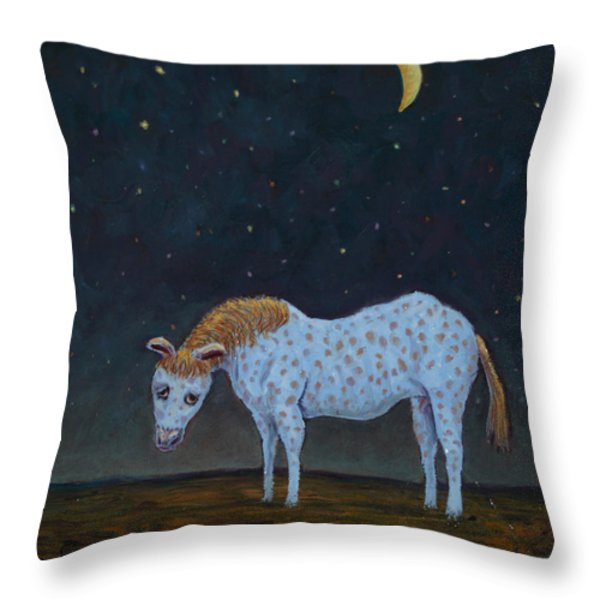 Out to Pasture Throw Pillow by James W Johnson